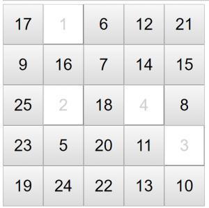 何秒でクリアできる? 数字を順番に選ぶだけの子供用ゲーム