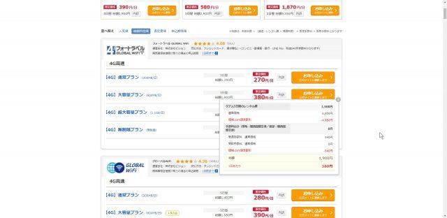 海外旅行 wifiレンタルなら 価格.comがものすごーーーく安い!!! 正規店で借りちゃダメ!